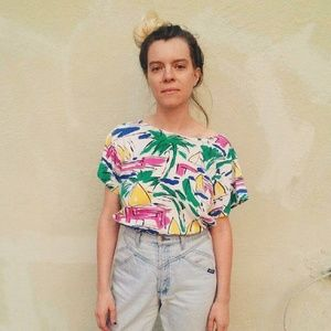 Vintage Dior Separates Tropical Tee Size M